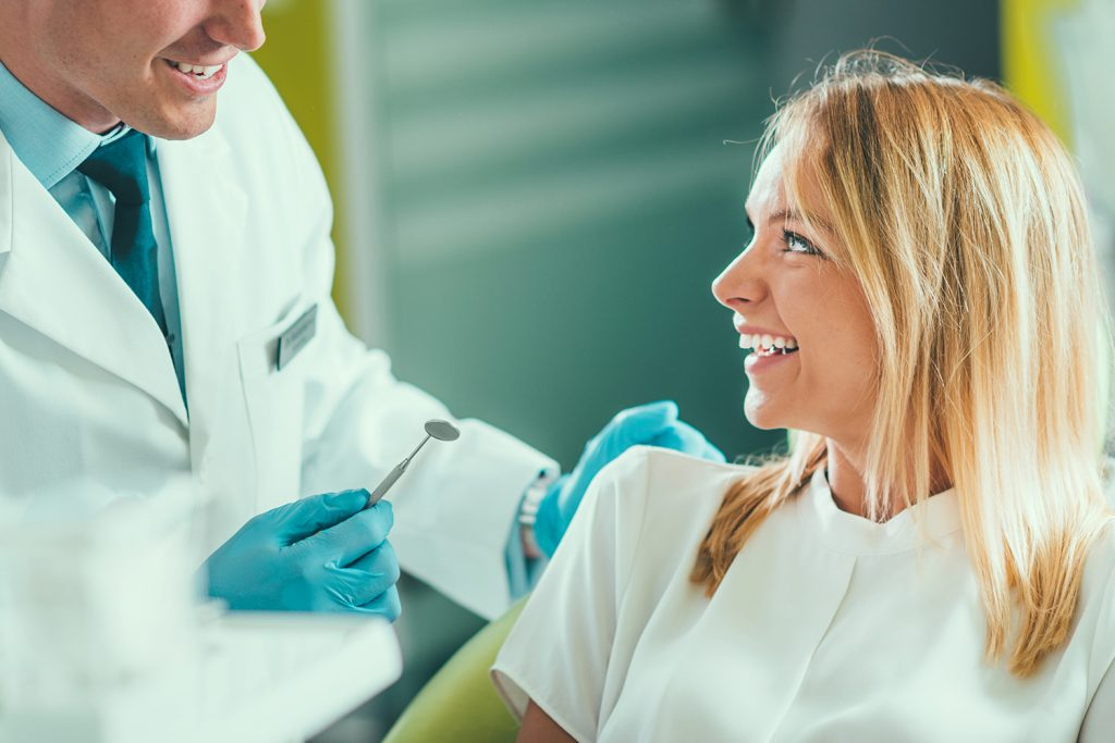 Young Woman Having a Dental Check-up